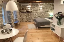 Bright and spacious, newly renovated studio apartment in a medieval stone house in the heart of Kotor Old Town