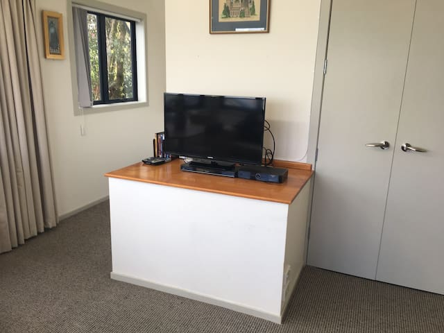 TV plus Sky TV/Blueray and Netflix available.  Storage cupboard with fully stock crockery etc.