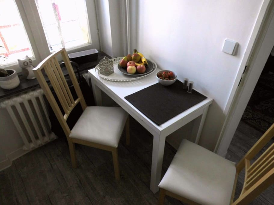 Table in the kitchen