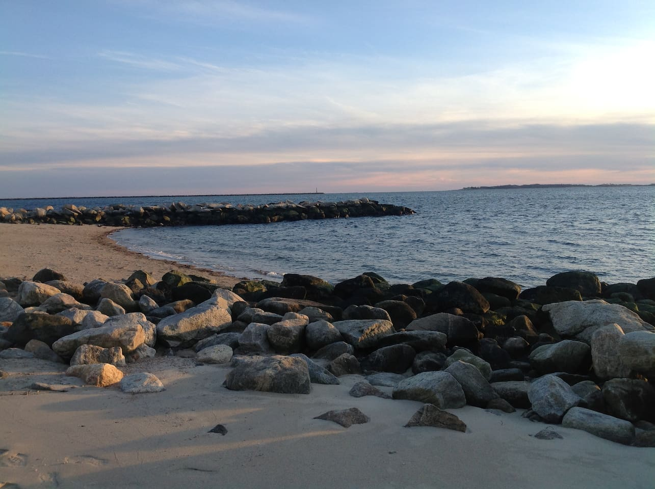 Dubois Beach overlooking Long Island Sound. This beach is a 10 minute walk or a two minute drive. Small and beautiful