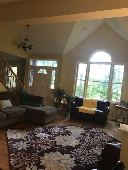 Great room with view of the lake