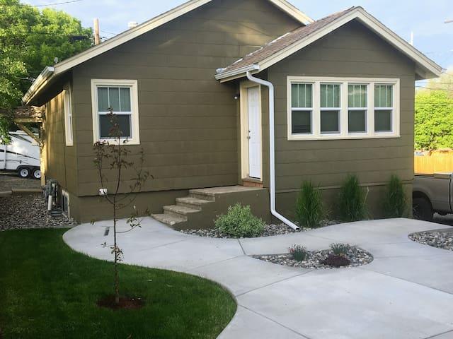 Back Door to Landscaped Patio Area