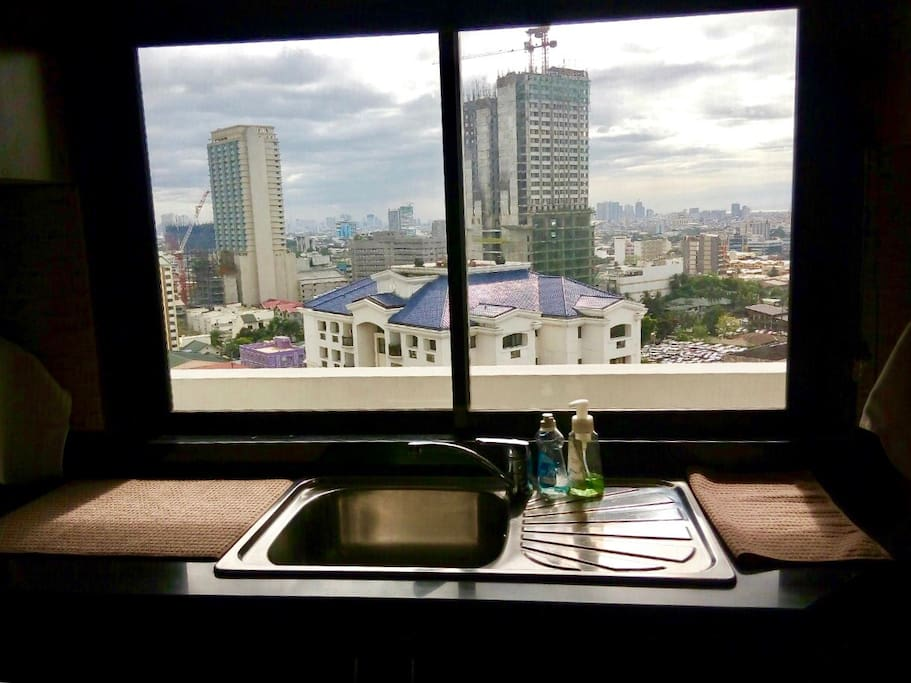 Kitchen Room with a Spectacular City View