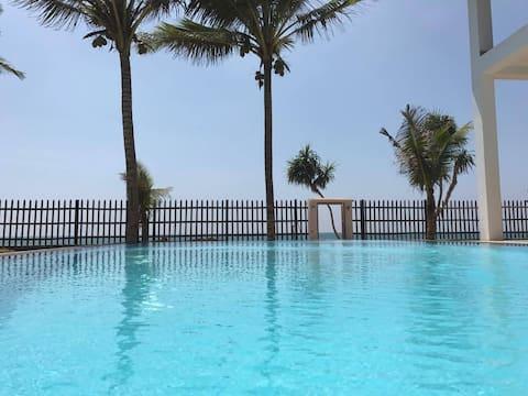 Seashell Villa Beach Front -BIG Pool -20%Discount