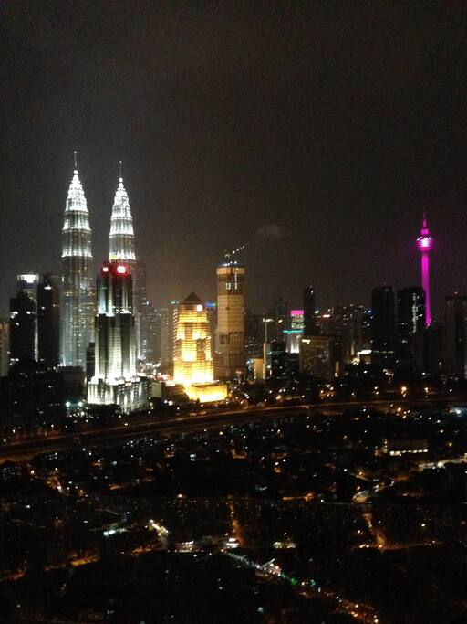 Fascinating KL Skyline from Balcony