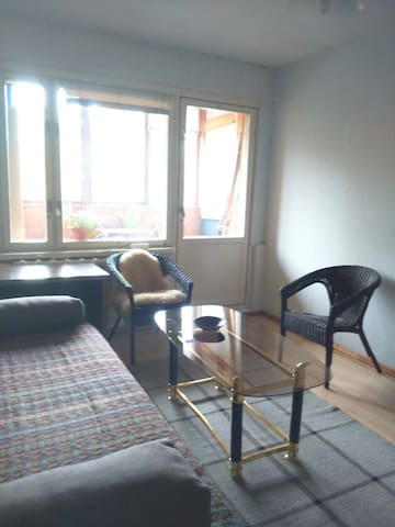 A room with a loggia & park view for non-smokers - Riga - Daire