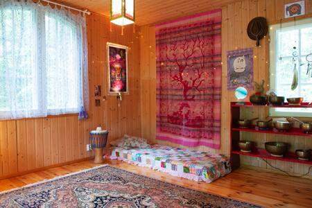 Heart of Nuuksio - Green Tara Temple Bed Room