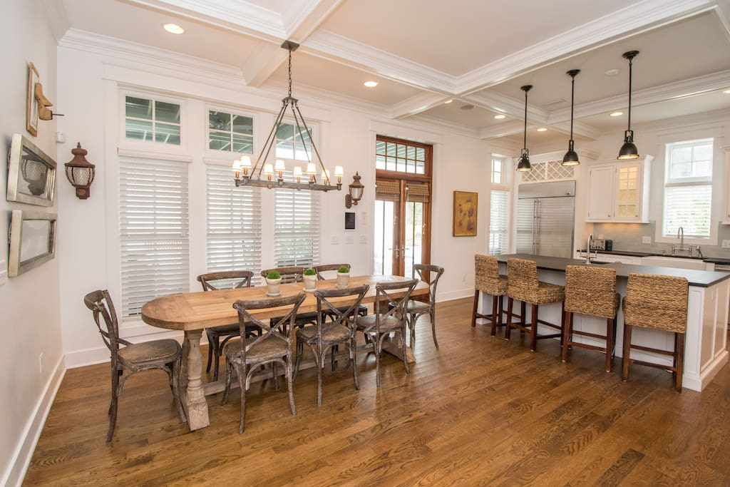 Beach Music Cottage is a beautiful open concept home with plenty of gathering space in the kitchen and dining area