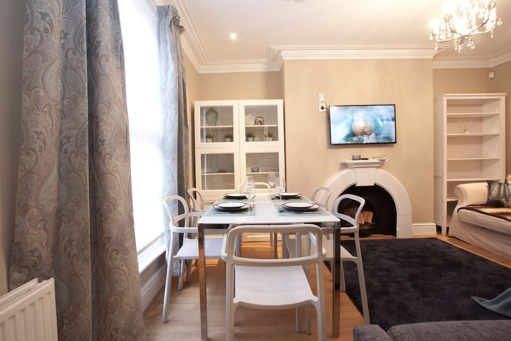 Living room and dining table