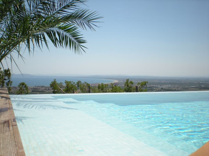 Villa Mirador, Roses. Spectacular panoramic view