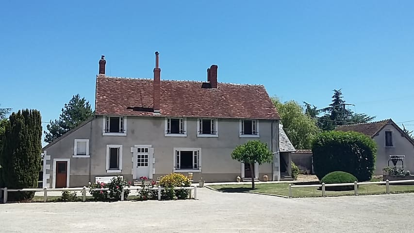 Rural house in central France with swimming pool.