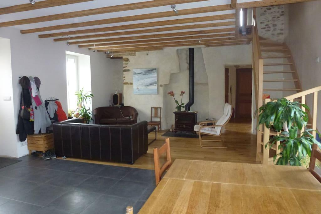 grande maison familiale proche nantes et plages maisons louer brains pays de la loire france. Black Bedroom Furniture Sets. Home Design Ideas