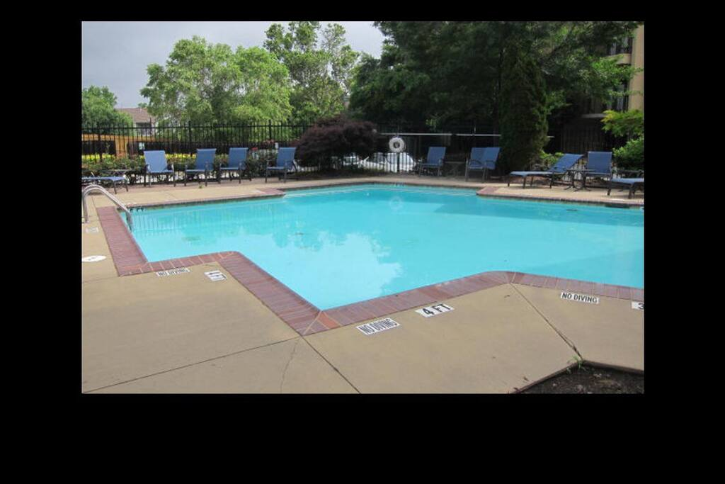 Pool located downstairs in our gated parking lot