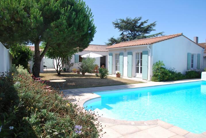 maison avec piscine ile de ré