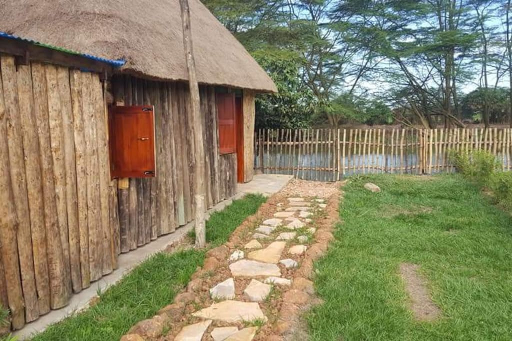 Pathway at cottage entrace