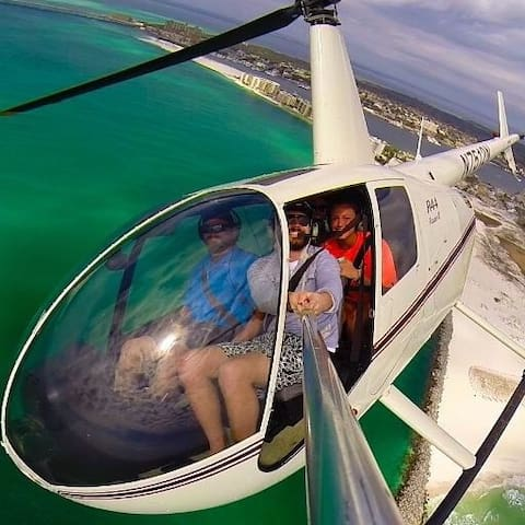 Want an awesome family photo?  Two helicopter tour companies are located within 2 miles of Mojo.