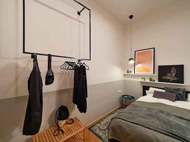 open bedroom hanger