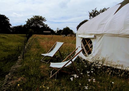 Beautiful yurt, with stunning South Downs views