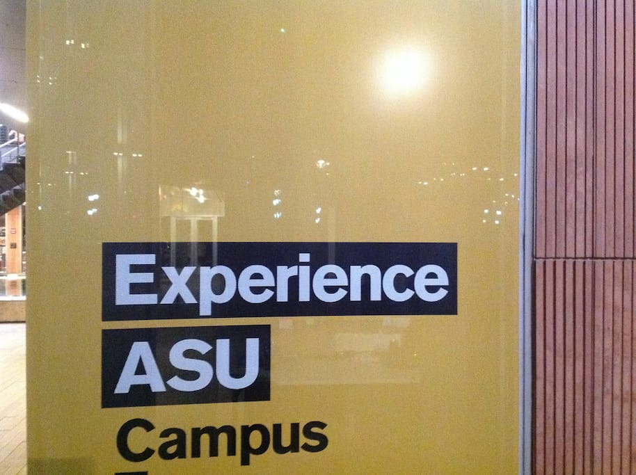 ASU WITH LESS THAN 5 miles,, GREAT SPACE if visiting with no car..