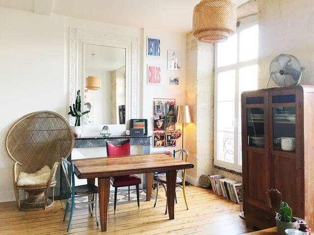 Bel appart' type loft vintage cosy ultra centre <3