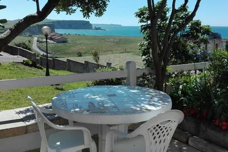 Loft  sobre  la playa con jardín. WIFI - Galizano
