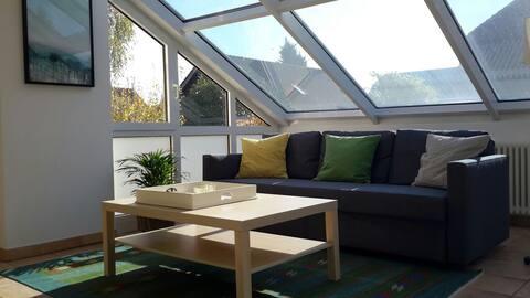 Ferienwohnung Sunny  60 qm. mit einer Dachterrasse