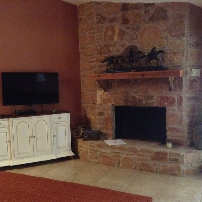 Fireplace with electric insert