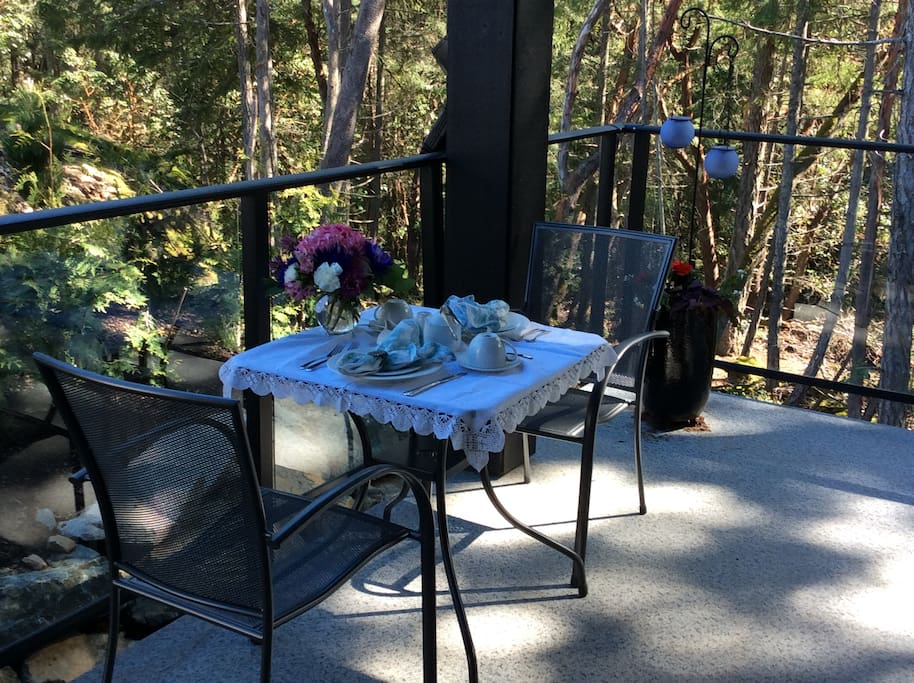 Full American Breakfast on your private balcony is included