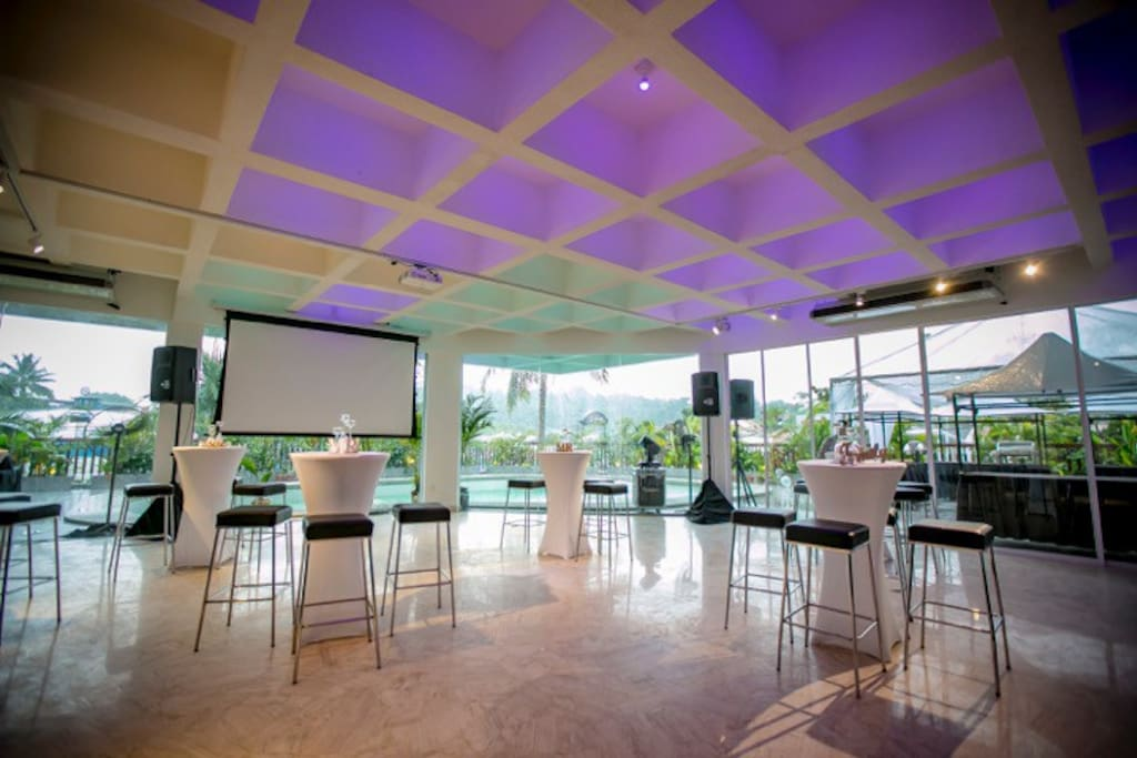 Main hall prepared for events ( furniture extra option )