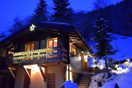 Chalet Les Frasques: Anniviers, ski, nature, sauna - Saint-Jean - Chalet
