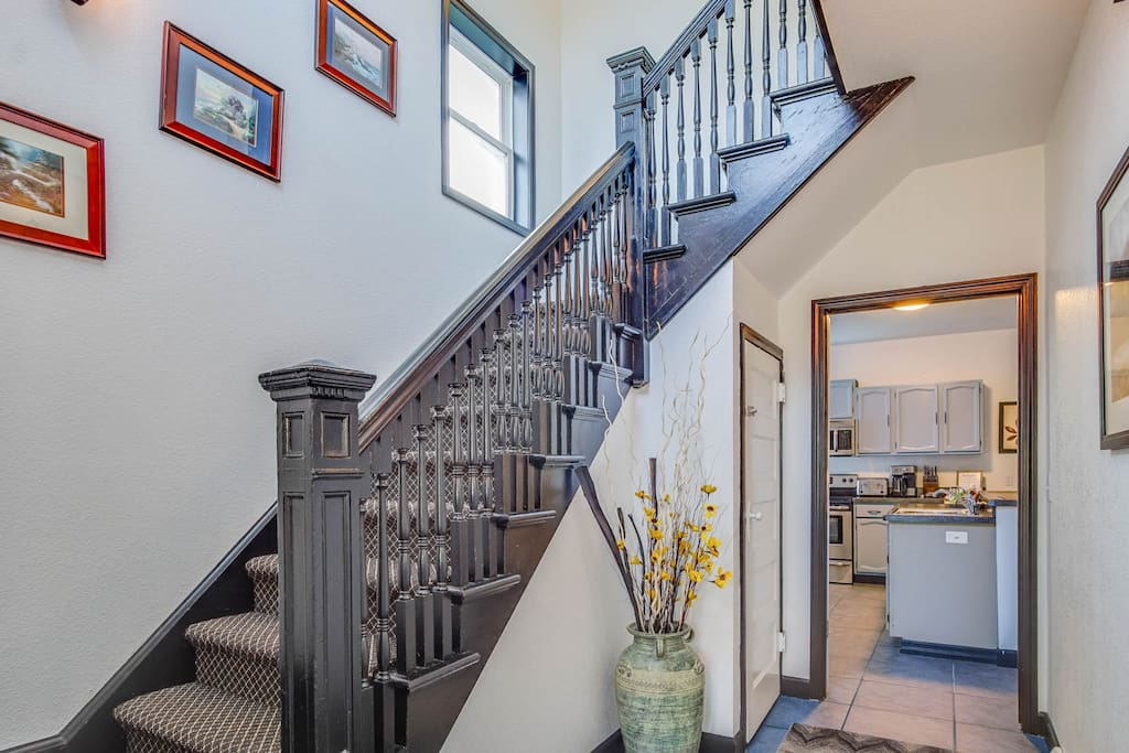 Historic Staircase with a spacious entrance