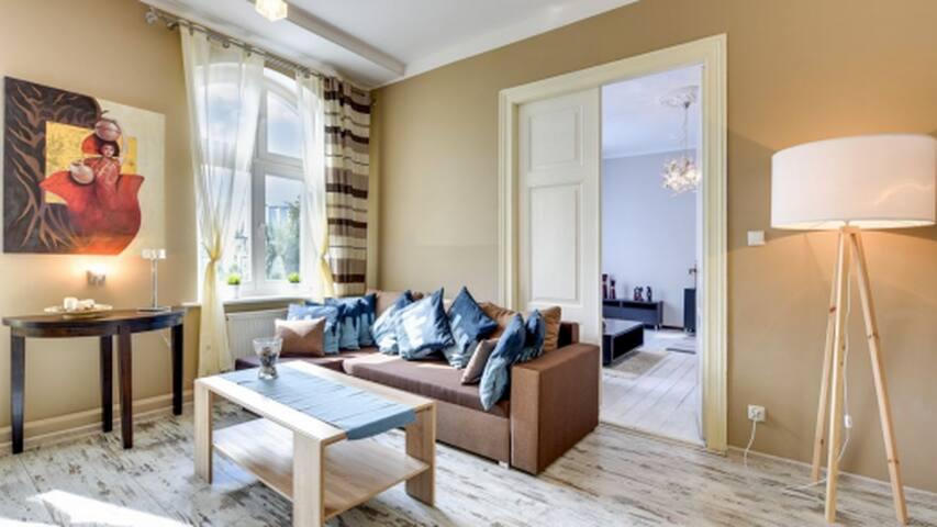 Salon z możliwością spania dla 2 osób