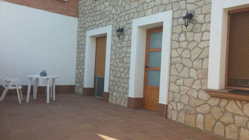 Terraza de entrada