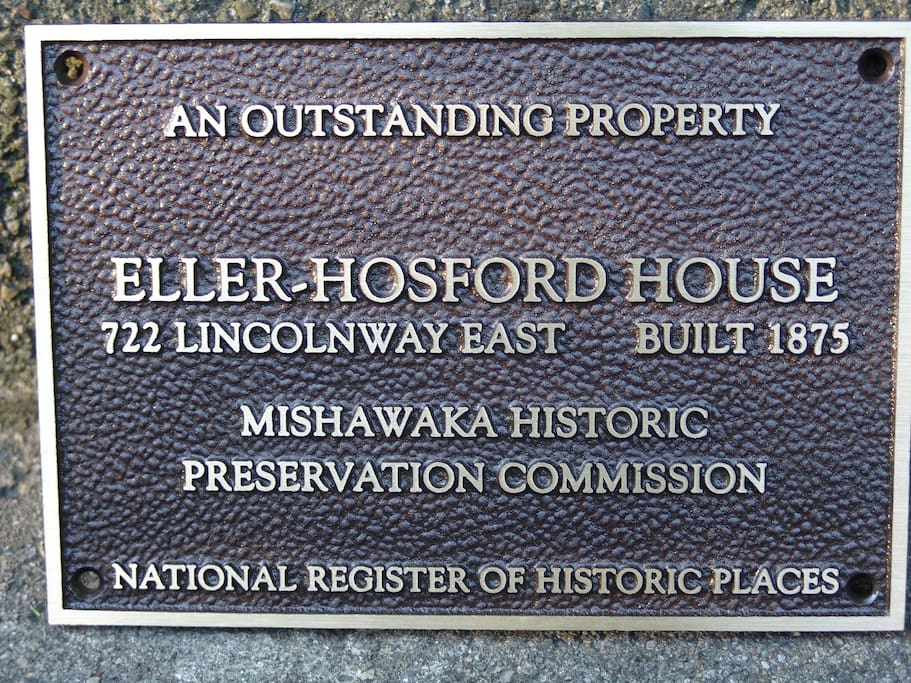 A Mishawaka landmark since 1875. The home is on the National, State and City Register of Historic Places.