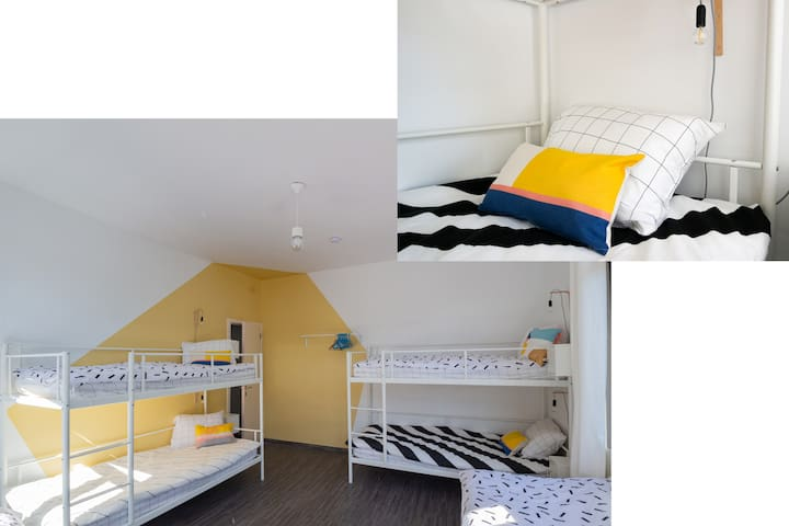 BED in FUNKY COMFY 6-bed FEMALE DORM – bed 4