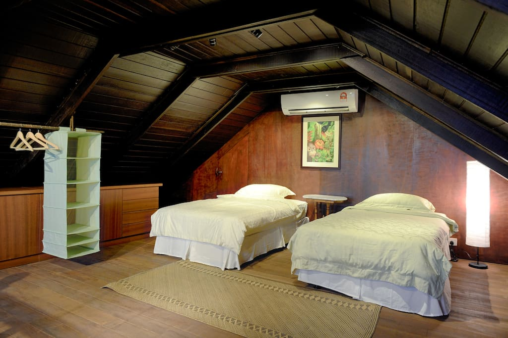Two beds in the loft