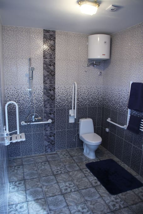 The bathroom is wheelchair accessible