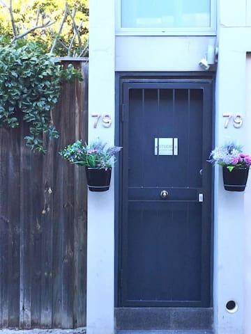 Private entrance to studio