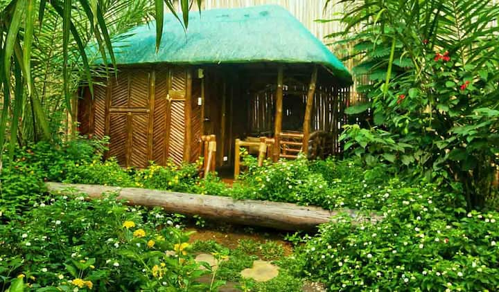 Single detached bamboo hut, Puerto Princesa