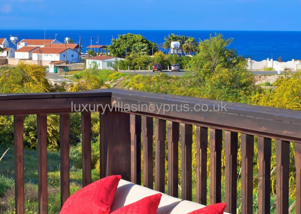 Villa Andreas looks down towards the beautiful Fireman's Beach.