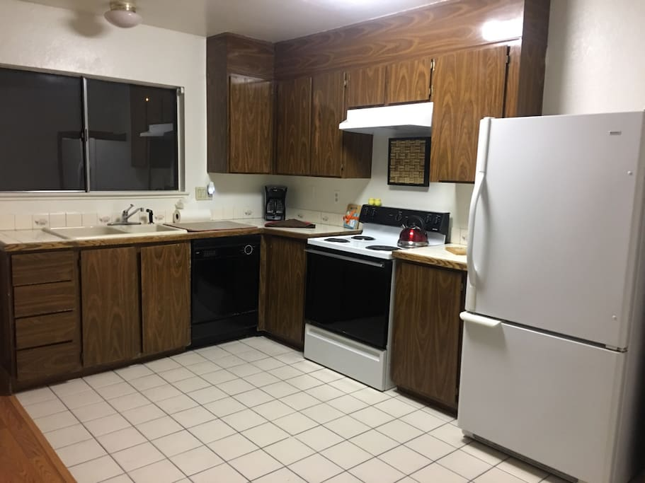 Kitchen with lots of amenities.
