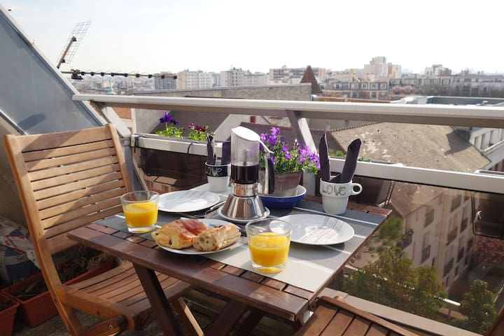Peace & Relax roofpenthouse 50m² metro 3 Gambetta - Paris - Apartment