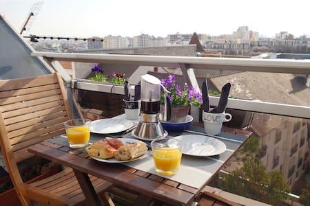 Peace & Relax roofpenthouse 50m² metro 3 Gambetta - Pariisi - Huoneisto