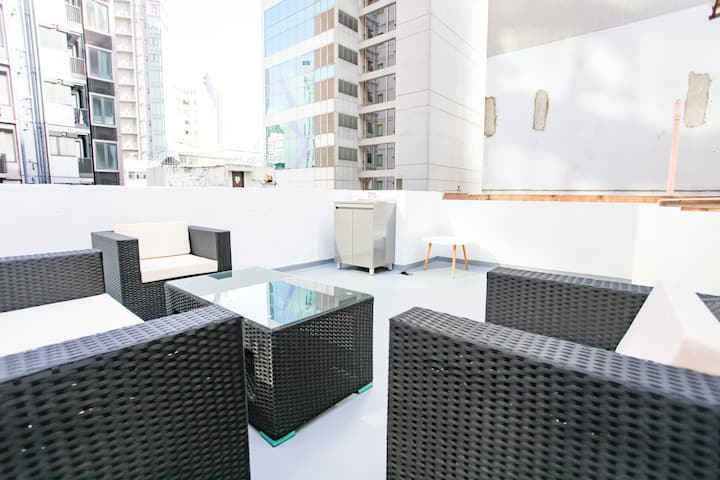 Newly renovated With private Rooftop and Balcony