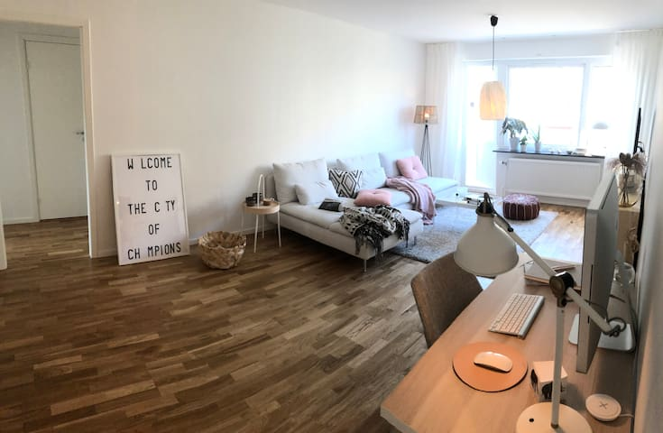 Stylish Large Private bedroom 6 min to city center