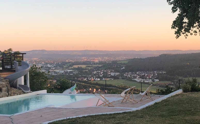Above the roofs of Bayreuth