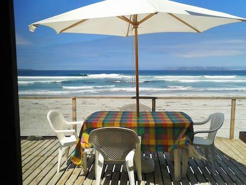 Cabaña a orilla de la playa