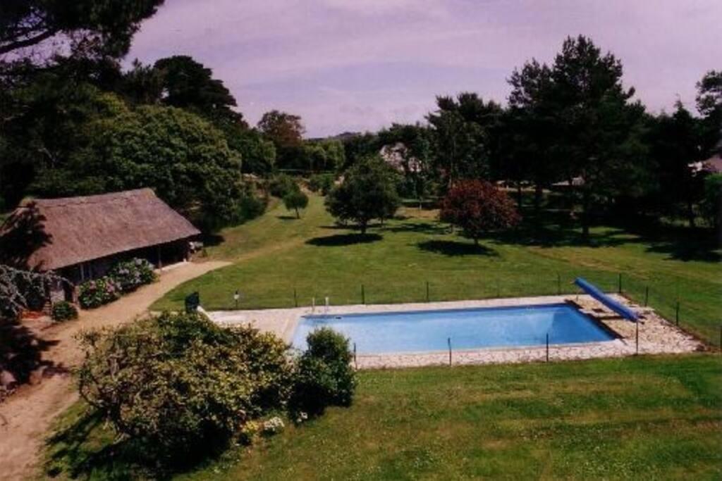 piscine et le parc