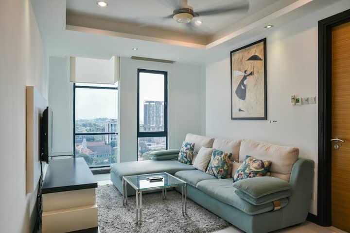 2BR ensuite Serviced Apartment @Bukit Bintang KL