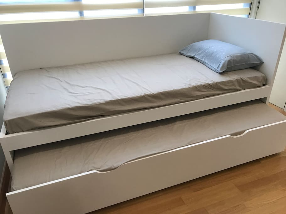 two single bed suitable for adult